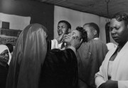 Storefront Churches (Women being blessed with eyes closed), 1958 - 1961      Gelatin silver print 6 x 8 inches