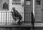 Lower West Side, Buffalo (Old woman on porch)