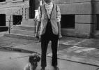 Lower West Side, Buffalo (Woman walking dog)