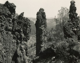 Three rock spires rising out of the earth, Mark Ruwedel, Pictures of Hell
