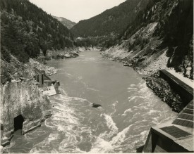 Wide churning river cutting through mountain pass, Mark Ruwedel, Pictures of Hell
