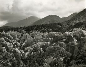 Rounded rock formations at foot of mountain, Mark Ruwedel, Pictures of Hell