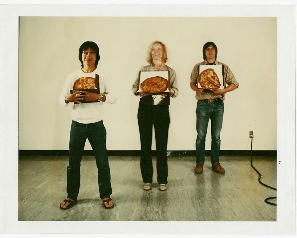 John Divola, Different Size Pizza for Different Size People, 1980