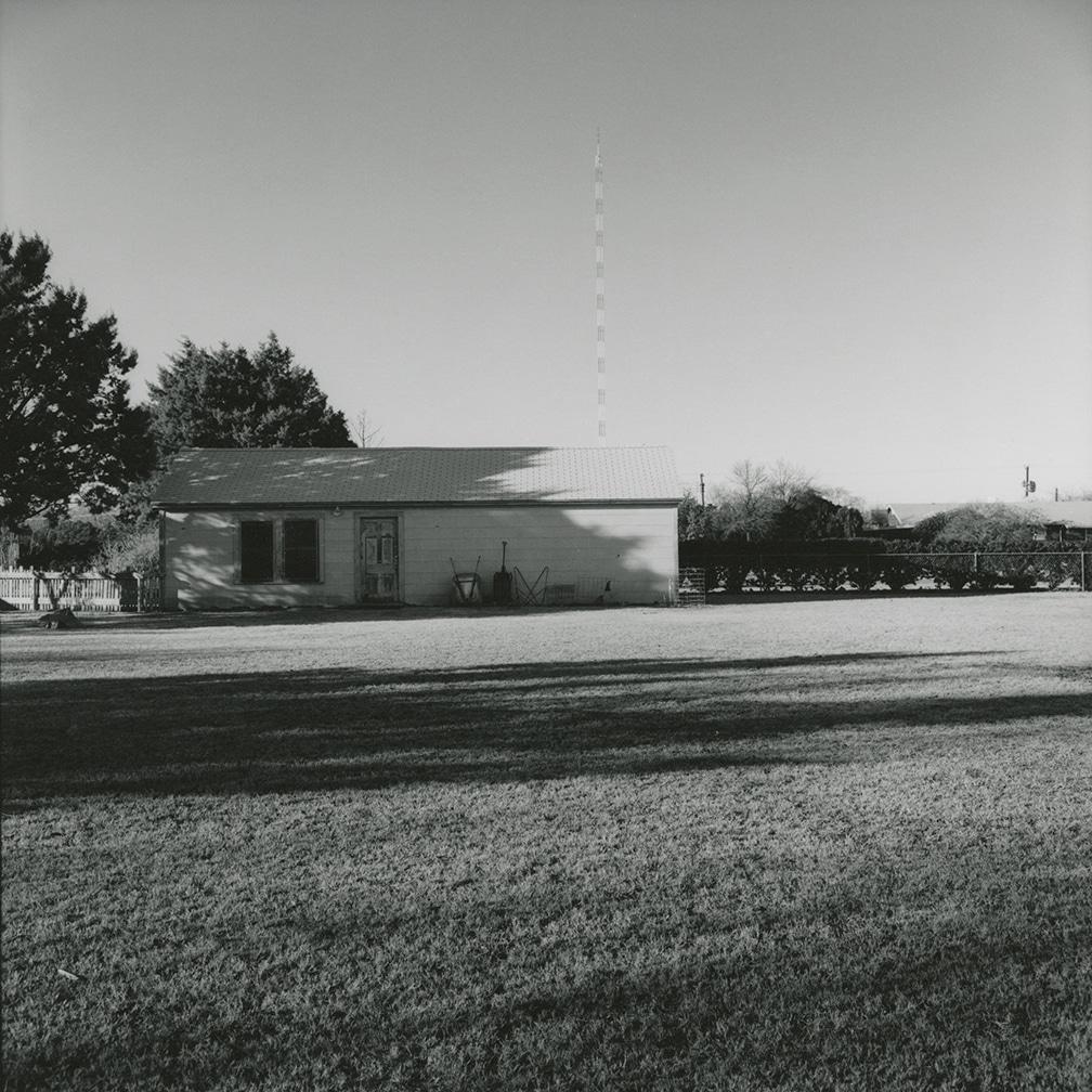 Backyard and garage of 2201 Wenonah, looking north – Wichita Falls, Texas, 1972/1974