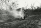 My dad burning trash – Edmond, Oklahoma, 1974/2016