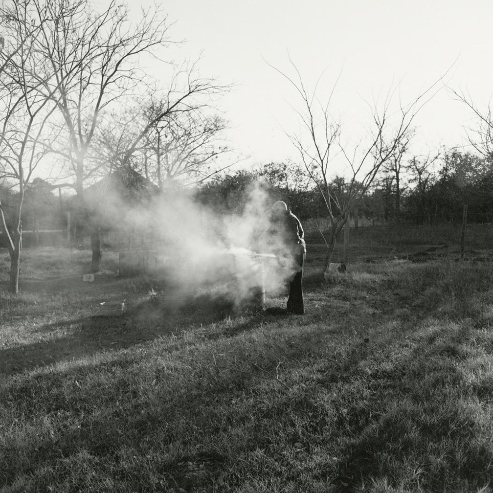 My dad burning trash – Edmond, Oklahoma, 1974/2016
