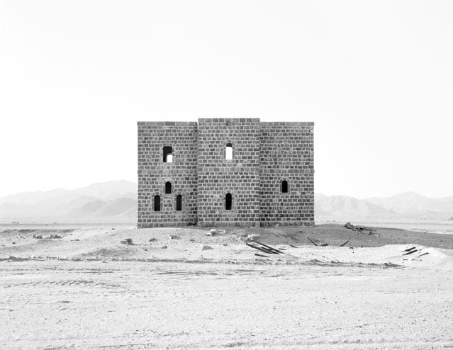 From Medina to Jordan Border, Hejaz Railway, Saudi Arabia,, 2002-2003 Gelatin silver print 16 x 12 inches