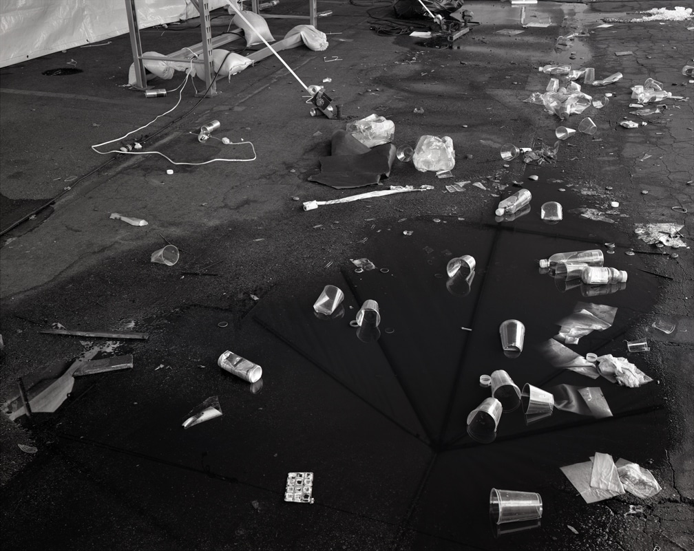 07. Cups in Tent, silver gelatin print, 2007, 20 x 24 inches
