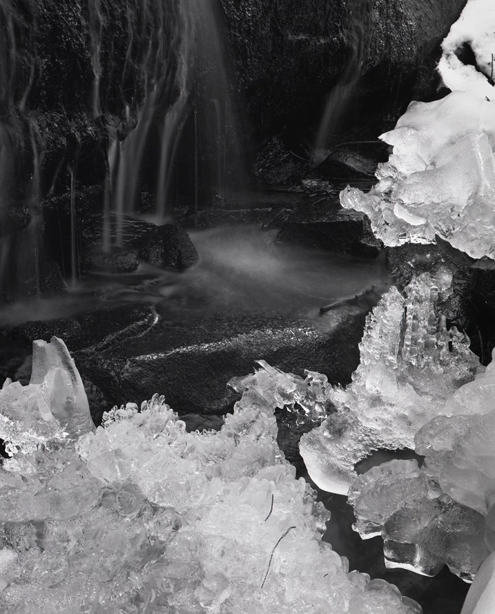 18. Ice Stream, silver gelatin print, 2013, 21 1:2 x 17 1:4 inches