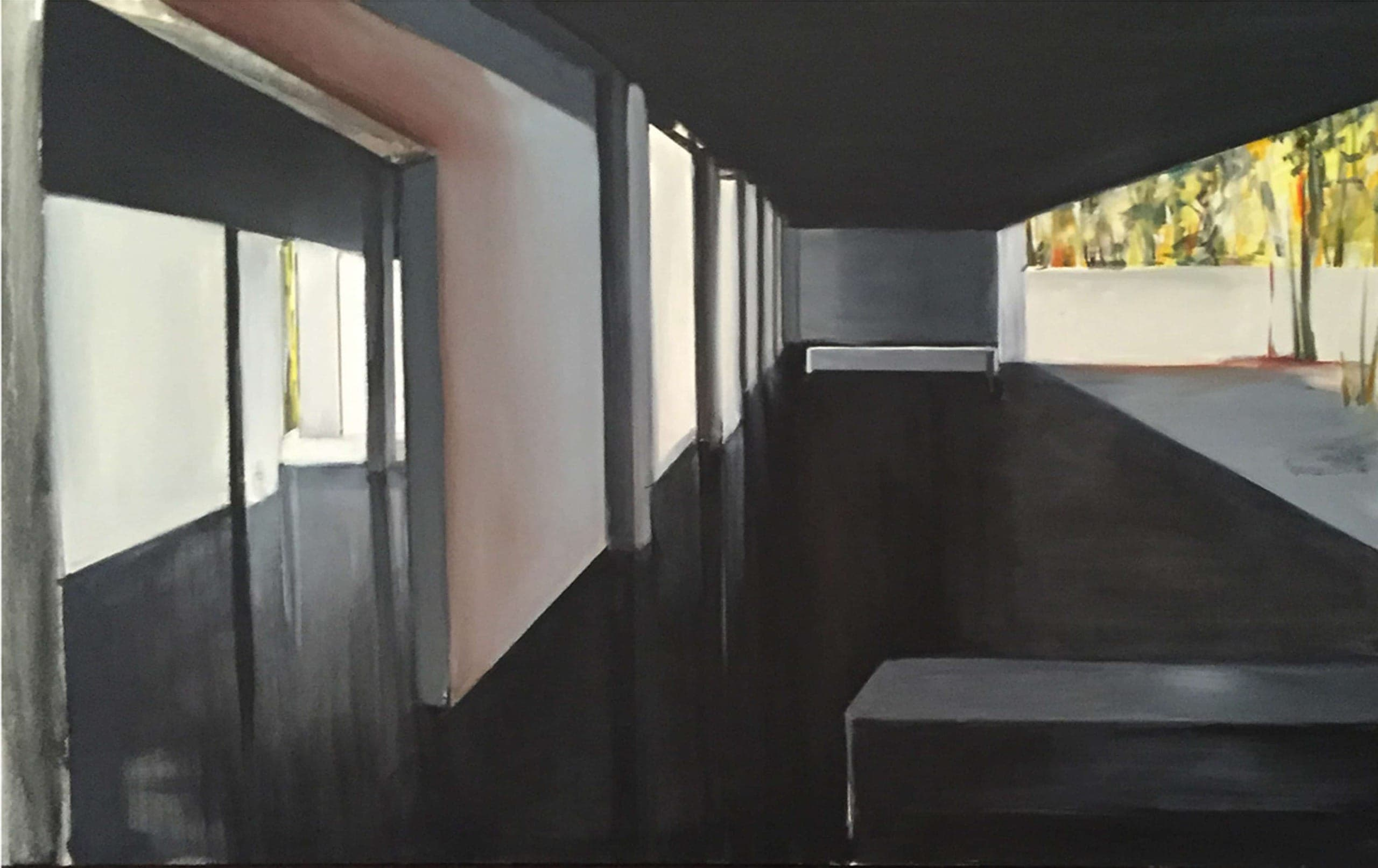 Pavillion 2016 oil on canvas 38x72