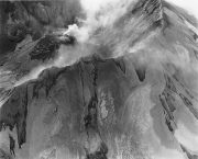 Aerial View_Mount St Helens Rim Crater Lava Dome