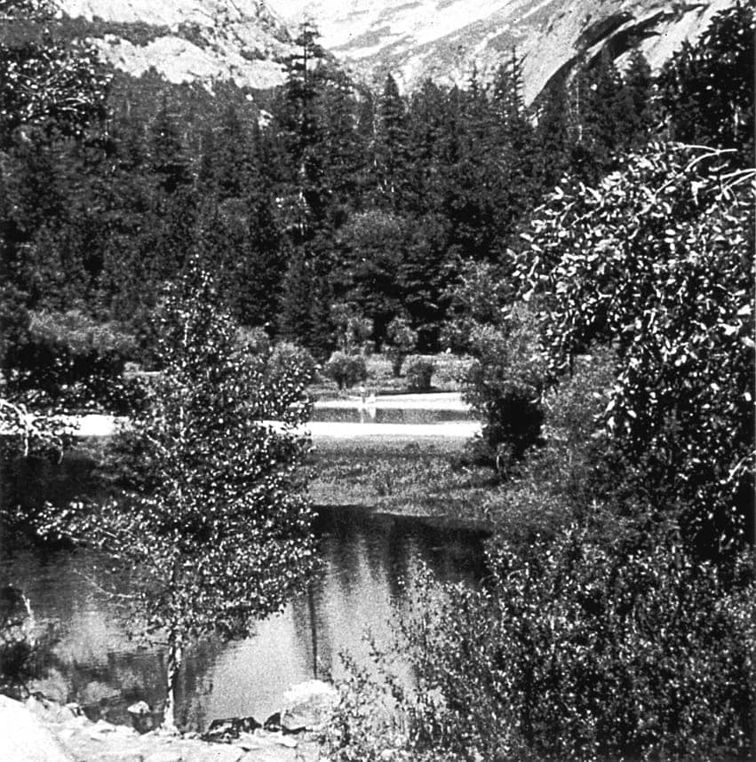 Occupied Landscape #1, (Yosemite), 1989/92 19″x19″ B&W Photograph